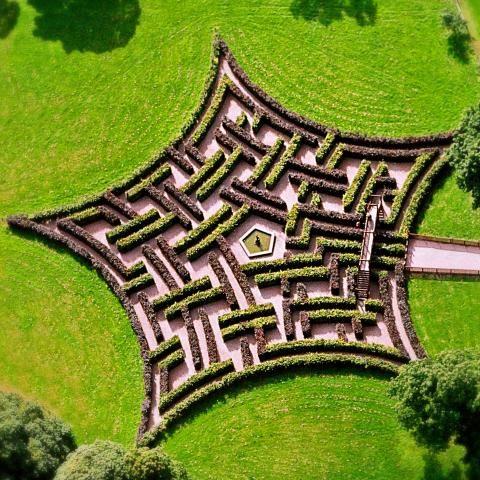 Garden maze at Scone Palace in Scotland