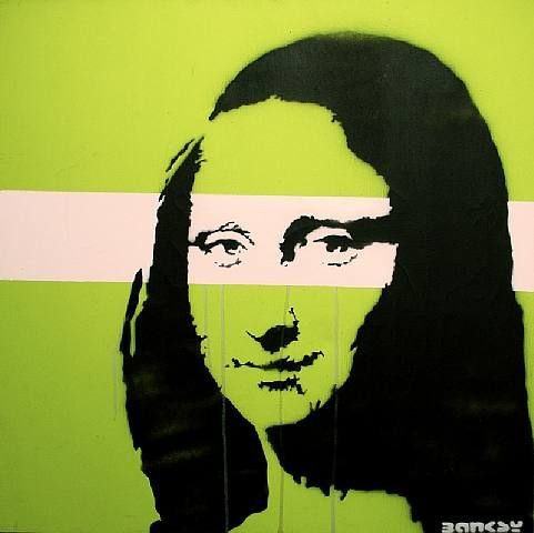 Banksy mona lisa paint dripping