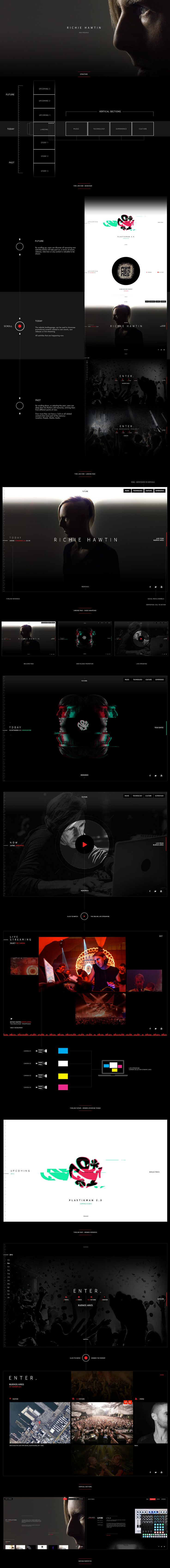 Richie Hawtin - envisioning the web presence on Behance