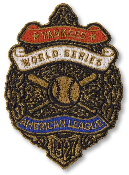 1927 New York Yankees World Series Patch. MLB www.patchcollection.com