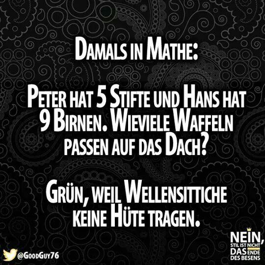 Typisch Mathe xD