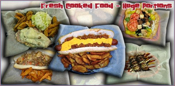 MUNCHIES 420 CAFE--Sarasota, FL - Man Vs. Food Show.  Late night take out and delivery - known for large fattening comfort food sandwiches