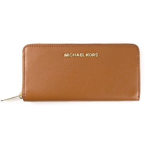 Michael Kors Zipped Purse (1.115 BRL) ❤ liked on Polyvore featuring bags, wallets, purses, accessories, clutches, brown, zipper bag, zip bags, zip top bag and michael kors bags