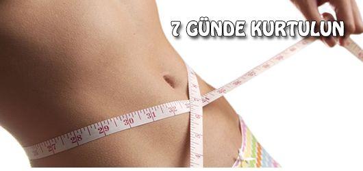 7 günde göbek eriten diyet