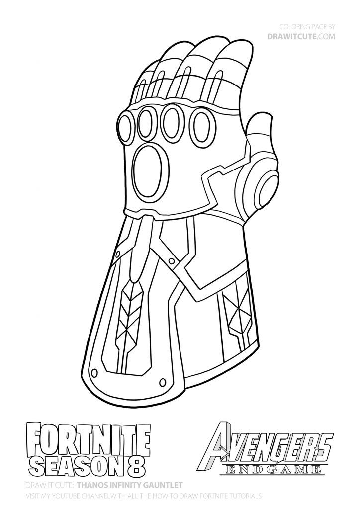 How To Draw Thanos Infinity Gauntlet Step By Step Guide With Coloring Page Fortnite Superhero Coloring Pages Cartoon Coloring Pages Avengers Coloring Pages