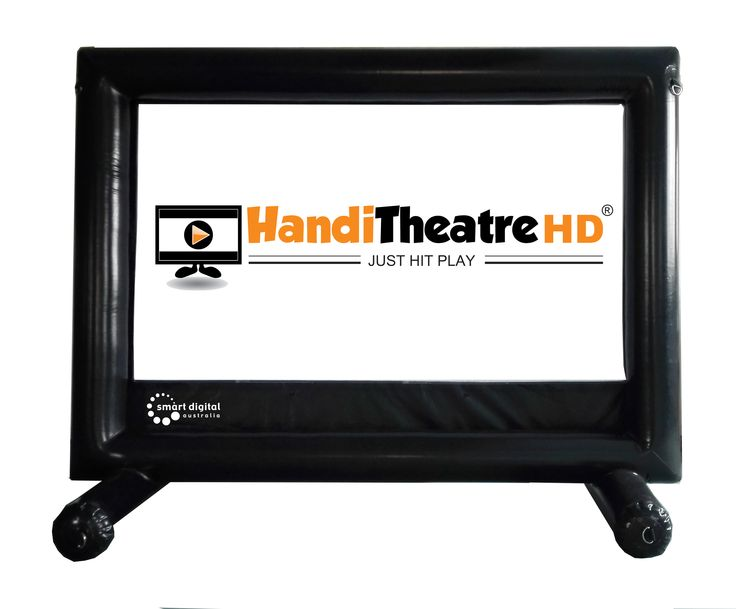 The smallest inflatable screen features supporting beams and is very light and compact.