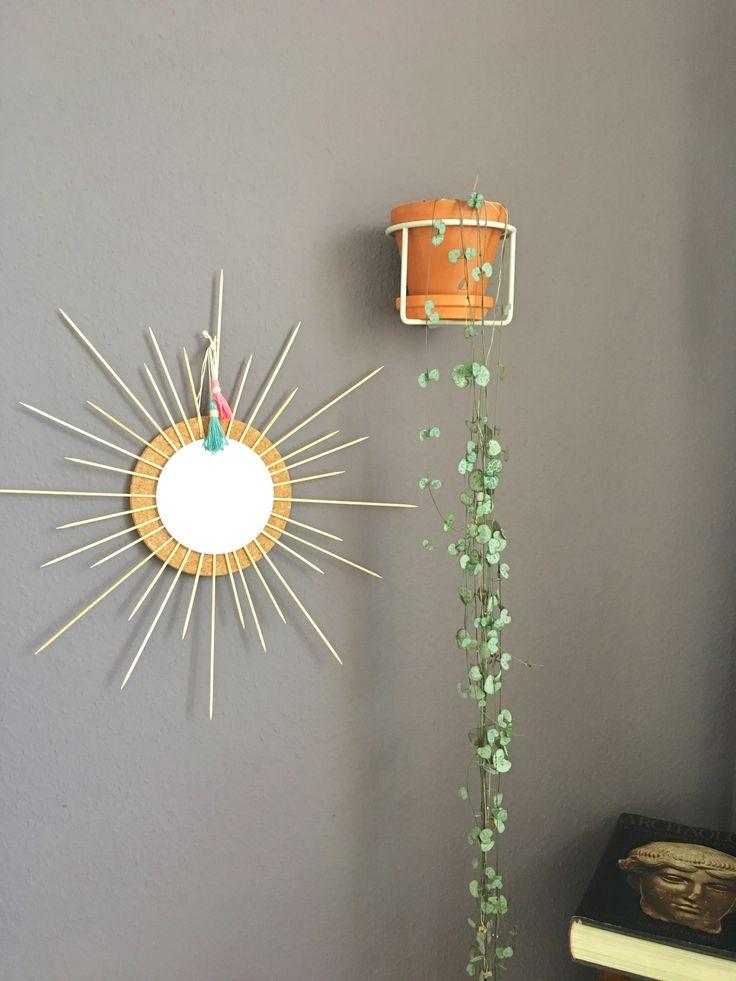Boho-Sonnen-Quick-DIY  Bohemian Sun DIY Spiegel Sonnenspiegel