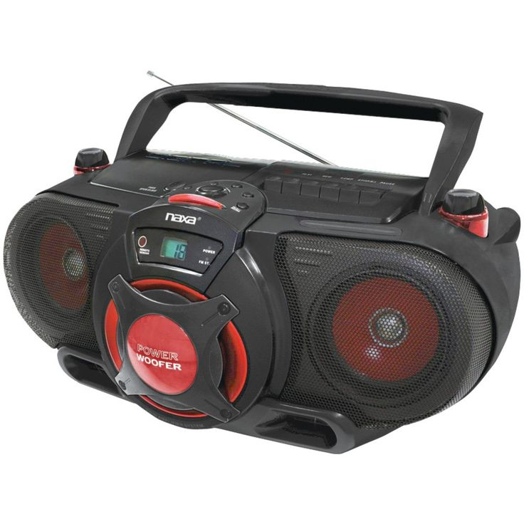 Naxa Portable Cd And Mp3 & Cassette Player & Am And Fm Radio With Subwoofer