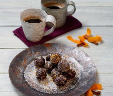 Recept: Katalansk chokladtryffel med apelsin och kanel