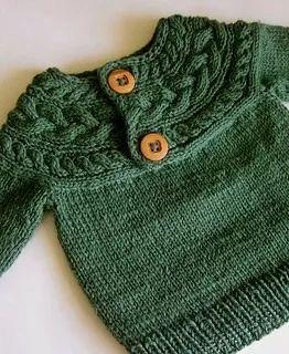 sweater abrigo |lana| baby boutique - tejidos bebe niños