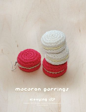 Macarons Ohrringe PATTERN, SYMBOL SCHALTPLAN (pdf)