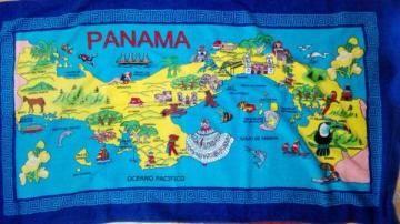 パナマ 地図デザイン バスタオル