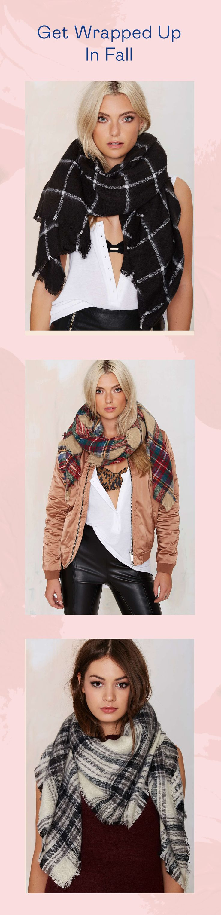 Get wrapped up in fall! Perfect with skinnies, a leather jacket and your favorite pair of boots.