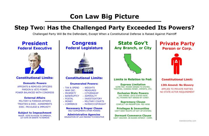 Constitutional Law Step Two: Powers of Challenged Party