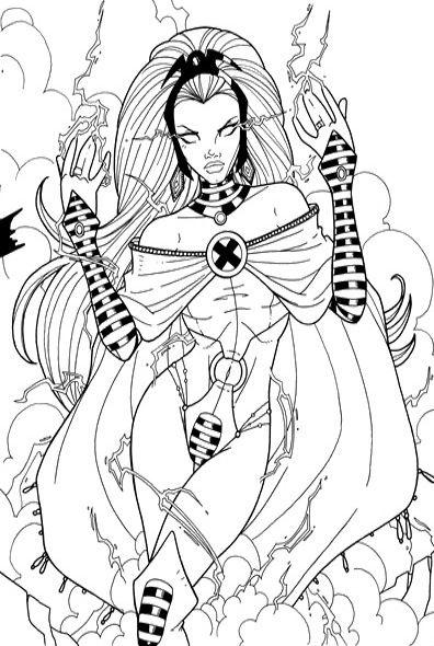 X-men Storm Coloring Pages | !Pretty women coloring | Pinterest | Storms