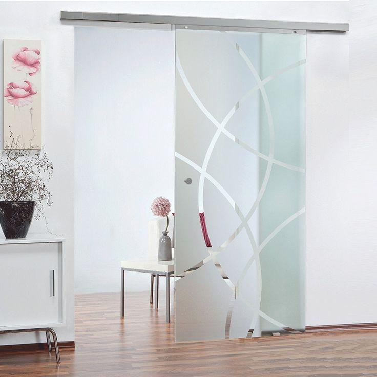 Schiebetür Glasschiebetür 880x2035 Softstop Schiebetürsystem Glastür Zimmertür