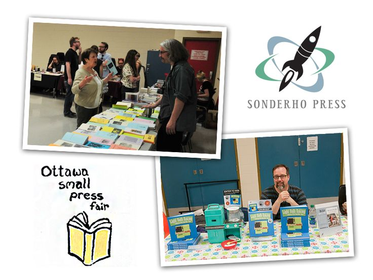 Where do you go in #Ottawa to discover independent publishers, writers, and artists? The Ottawa Small Press Book Fair, of course.  #lightbulbbaking #easybakeoven