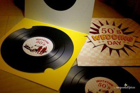 Notre faire part : vinyl / années 50
