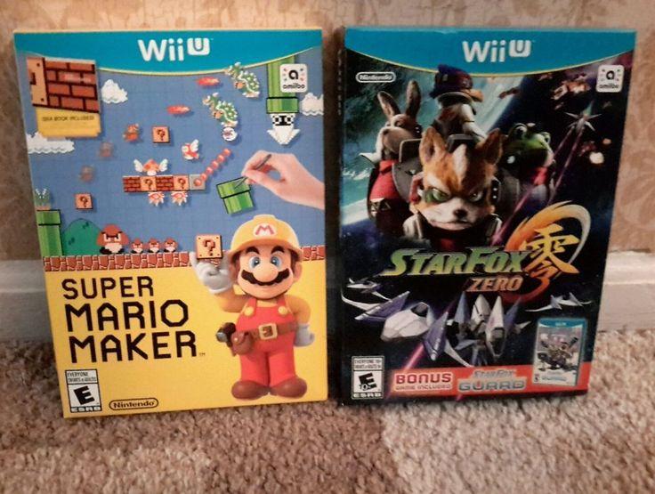Brand New Lot of 2 Nintendo Wii U Games ~ Super Mario Maker ~ Star Fox Zero