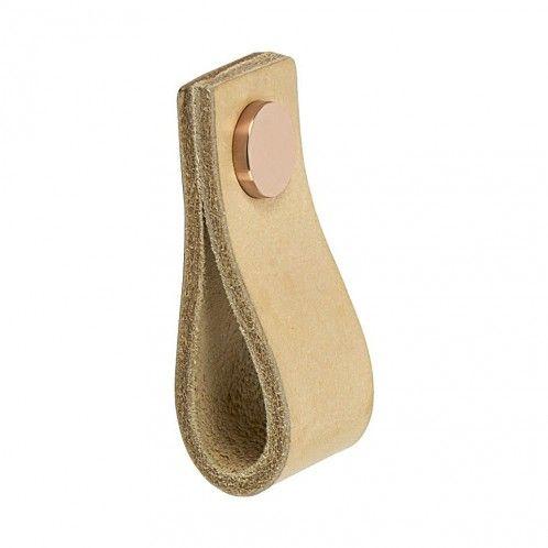 Handtag Loop - Läder Natur / Koppar- Beslag Design