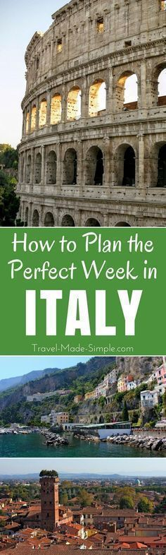Here's how to make the most of one week in Italy. From the history to the food, plan a trip to Italy with our Italy itinerary and enjoy your dream vacation! one week in Italy | two weeks in Italy | travel to Italy | Italy travel planning tips | Italy attractions | Italy tourist attractions | Italy activities | things to do in Italy | what to do in Italy | plan a trip to Italy | Italy vacation #italyplanning #italytravel #italyvacation #italyitinerary