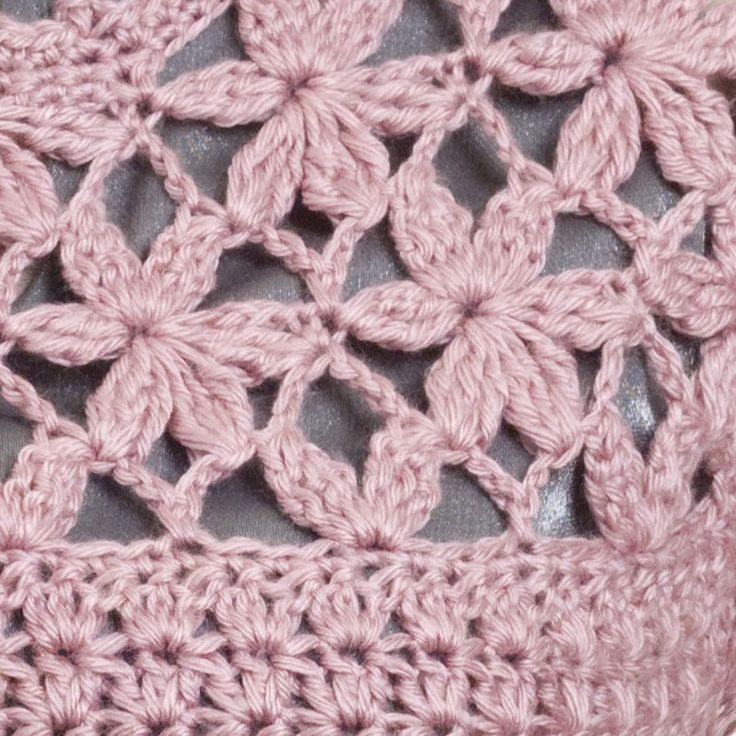 Rose of Sharon, Tunic pattern. Not into the tunic but I like the petal motif. Would make an adorable baby blanket <3