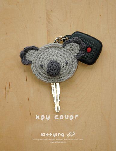 Koala Key Cover Crochet Pattern, Chart & Written Pattern
