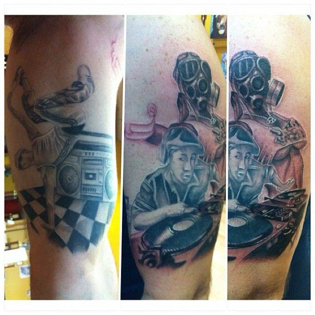 TATU BABY TATTOOS! 90's hip hop #tattoo sleeve I'm working on...