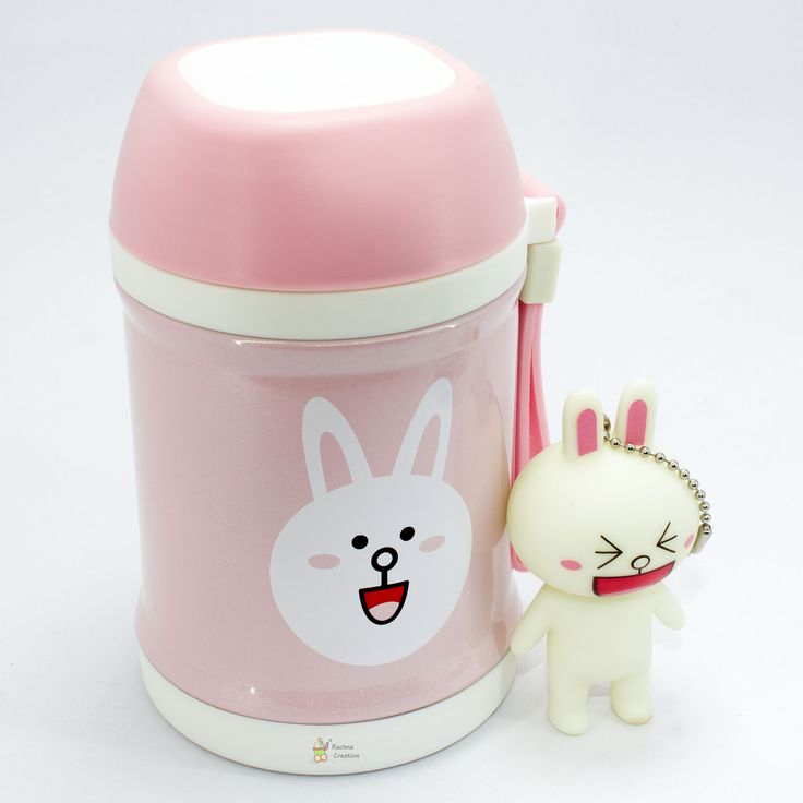 #Food Grade Stainless #Steel #Cat #Print #Thermos #Vacuum Food Jar with Folding #Spoon - K106 - #Pink - 400ML.   #Buy Here - http://amzn.to/2hpeE6I  #keychain #gifts