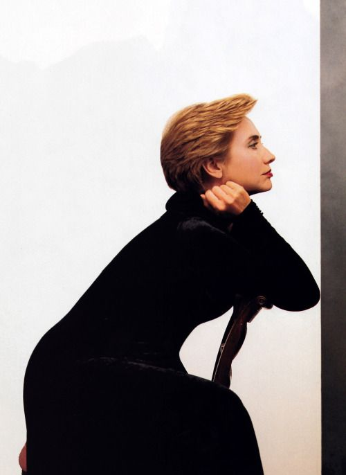 Hillary Clinton in Donna Karan