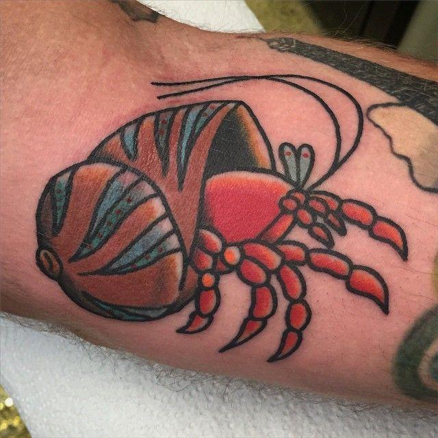 10 Fascinating Hermit Crab Tattoos | Tattoodo.com