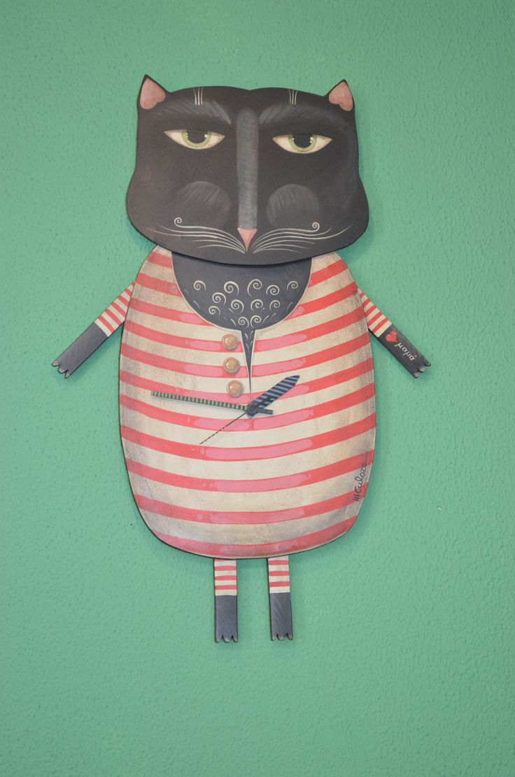 Our big old fat cat! DIY Kimolia style! Cat & clock at the same time!