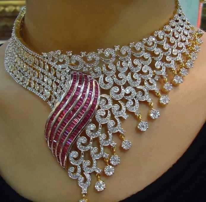diamond and ruby nec beauty bling jewelry fashion