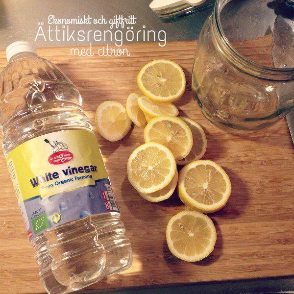 Hemgjord ättiksrengöring med citrus