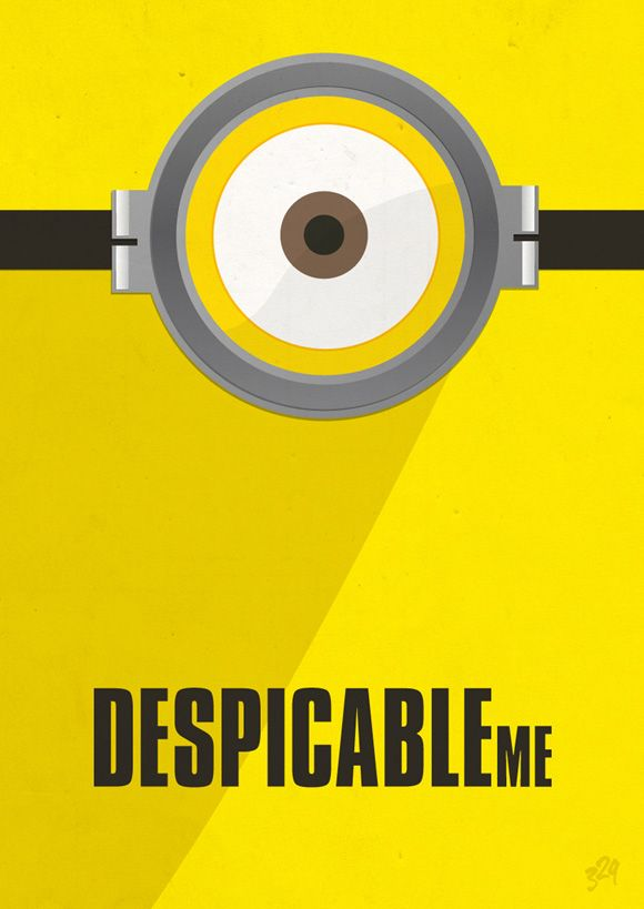 Despicable Me minimalist movie poster by Livia Lucie