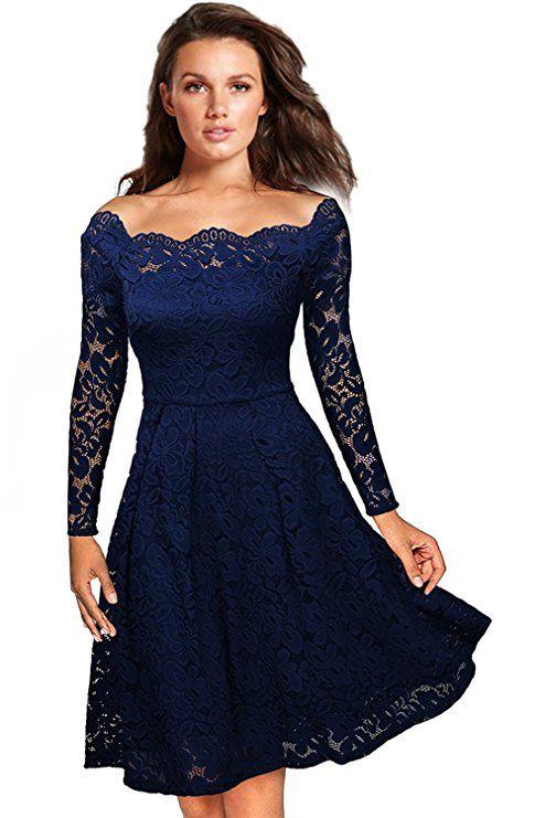 eb21b4b2295983 #Abendkleid mit Wow-Effekt. Knielanges Spitzenkleid in eleganter A-Linie.  Schlanke
