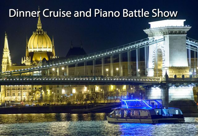 Enjoy a delicious fine dining experience on the Danube.The Dinner Cruise through Budapest lasts 3 hours, during which our chef will prepare a 4-course menu.