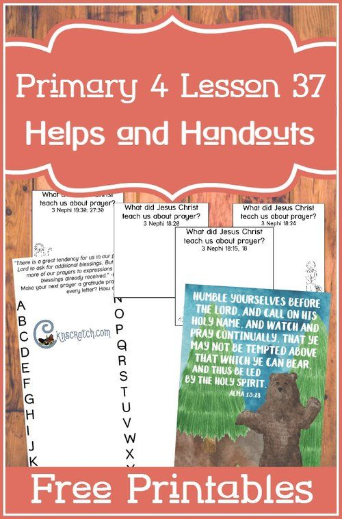Great resources and free handouts for teaching Primary 4 Lesson 37: Jesus Christ teaches the Nephites to Pray