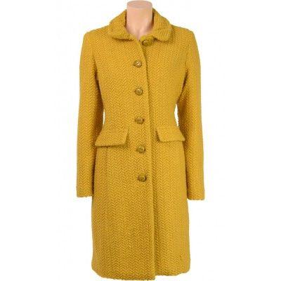 King Louie - Nathalie Coat Savoy Honey Yellow