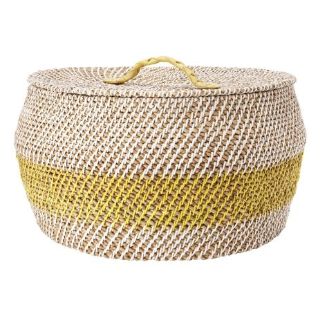 Rattle Basket (Lidded) 29cm | Freedom Furniture and Homewares $109 #freedomaustralia #christmas