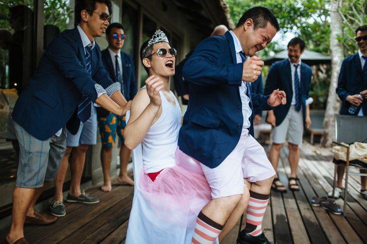 Chinese door games at a destination wedding in Phuket, Thailand.
