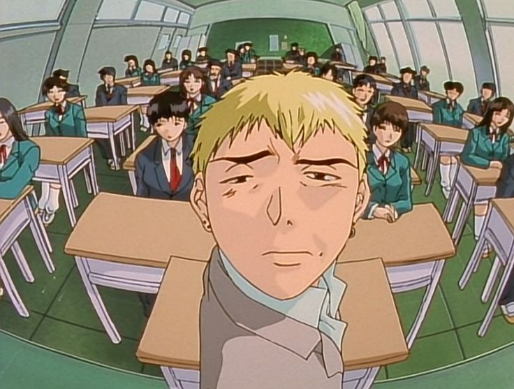 Great Teacher Onizuka. I just finished it and he first anime in which I want too read the Manga. Bahhhh