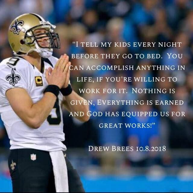 Image result for drew brees quotes on god