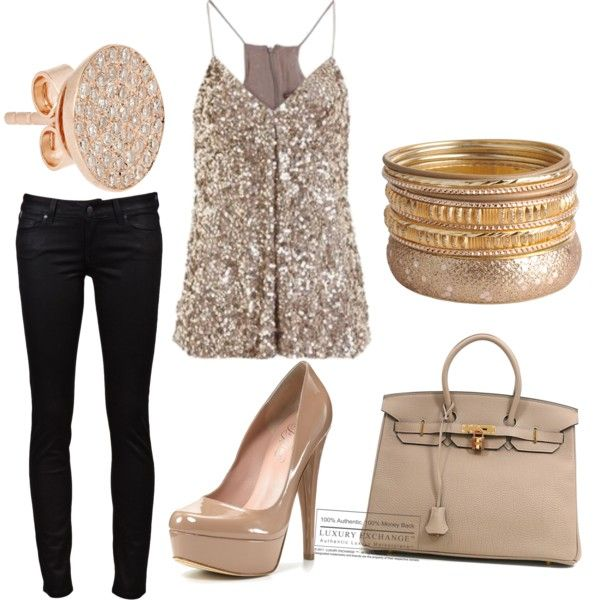 Super-cute date night outfit. Must remember idea for Valentine's Day with my hubby.
