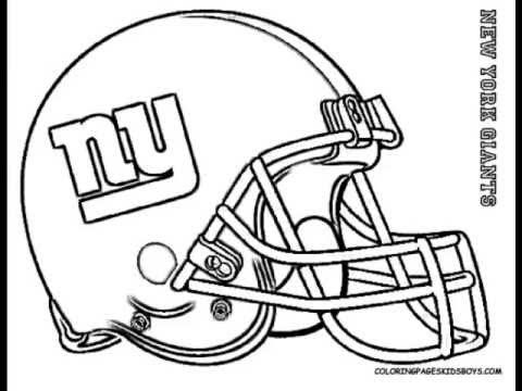 football helmet green bay packers coloring page for kids
