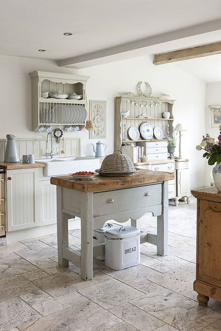 French Country Style Kitchen Decorating Ideas With Weie Kchensthle