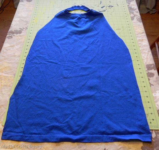tshirt cape - no sew