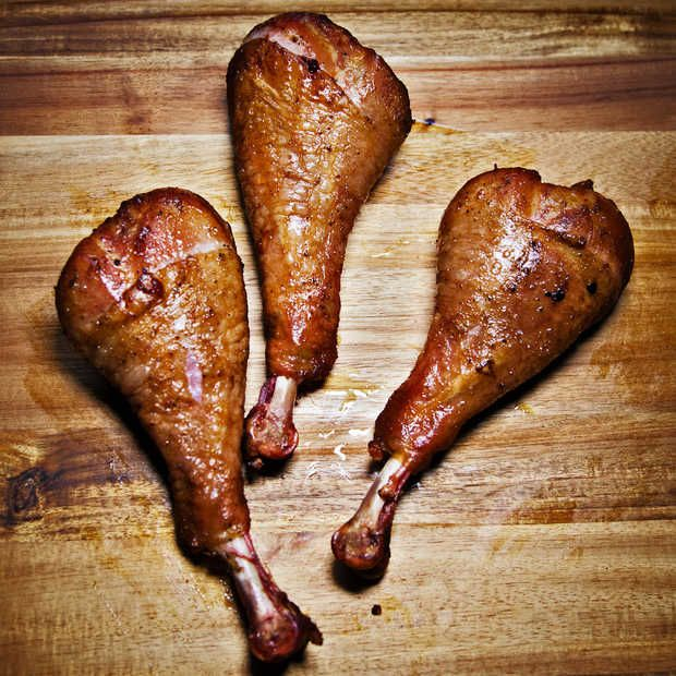 every time I see someone eating a turkey leg at a faire i throw up a little in my mouth, they are just the nastiest, frozen forever , cooked to death ,shit sticks ever sold at any event,. but thats just my experience of a lifetime of being around them .. no, i do not recommend the turkey legs M' Lord. m'Lady.