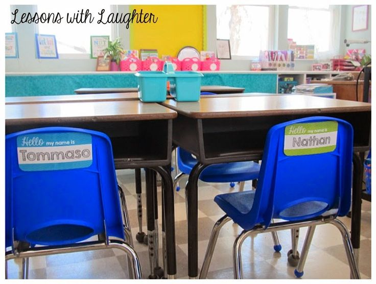 Lessons with Laughter: name tag solution!