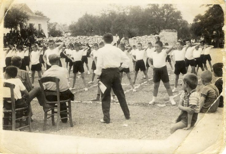 Gymnastic demonstrations at the end of school year ,1965